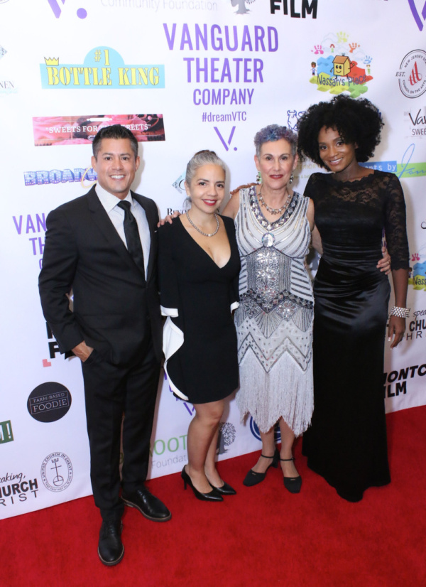 Luis Crespo, Luz Miranda Crespo, Jessica Sporn, Janeece Freeman Clark at Vanguard Theater Company's Gala on November 3, 2018.