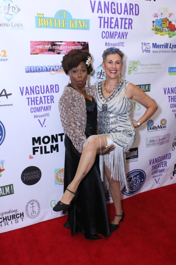 Patrisha Gibson and Jessica Sporn at Vanguard Theater Company's Gala on November 3, 2018.