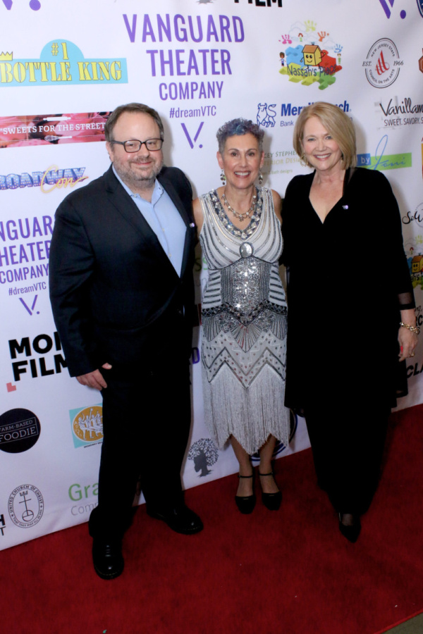 Tom Hall (Montclair Film), Jessica Sporn (Managing Director, Vanguard Theater Company), Geraldine Leer (Manifest NBC) at the Vanguard Theater Company Gala.