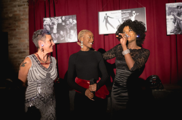 Jessica Sporn, Leah Jenea, & Janeece Freeman Clark, at Vanguard Theater Company's Gala on November 3, 2018