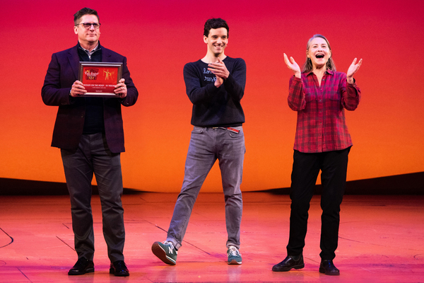 Christopher Sieber, Michael Urie, Cherry Jones Photo