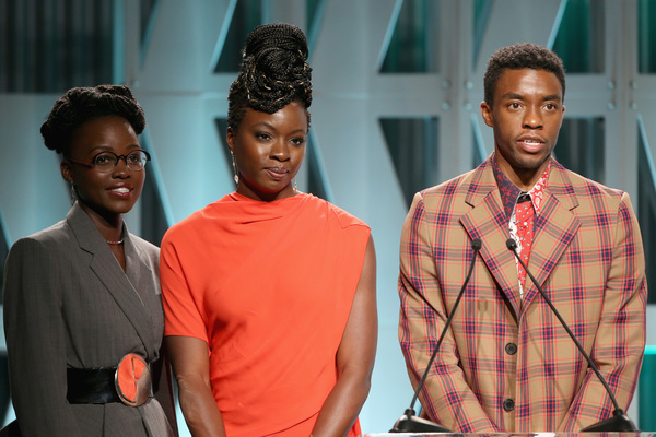 Lupita Nyong'o, Danai Gurira and Chadwick Boseman