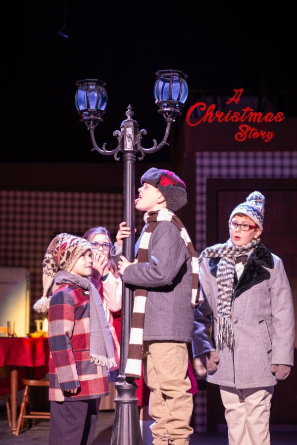 Schwartz (Blake Ryan) triple dog dares Flick (Tyson Duff) in A CHRISTMAS STORY.