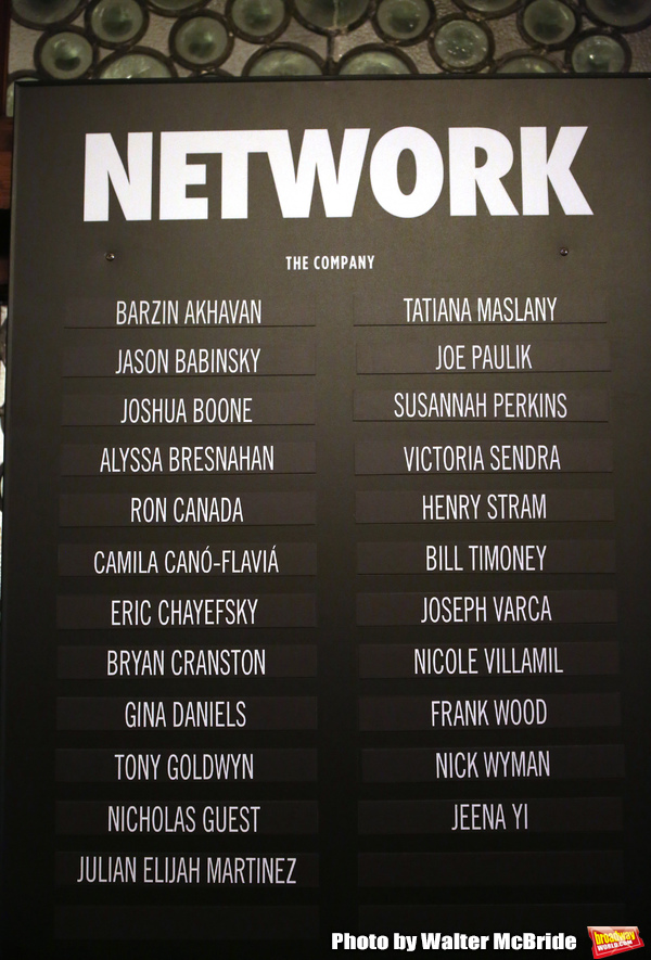 Photo Coverage: The Cast of NETWORK Takes Opening Night Bows
