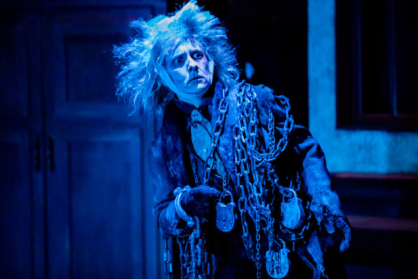 Laura Frye as Jacob Marley  Photo