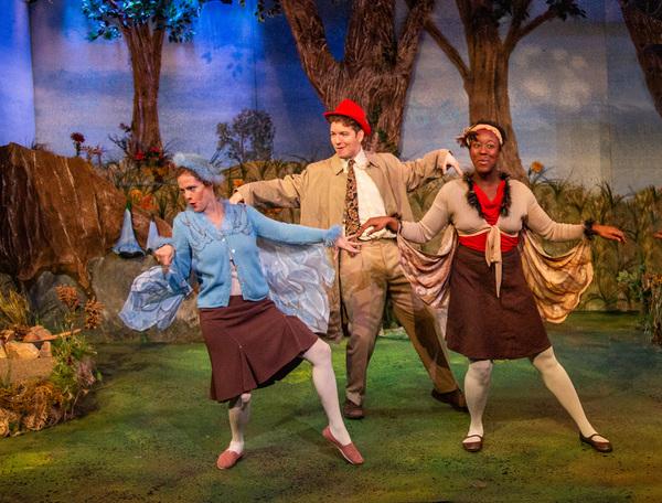 Lyndsay Ricketson (Bird/Turtle), Elliot Folds (Bird/Snail), and Taryn Janelle (Bird/Mouse)