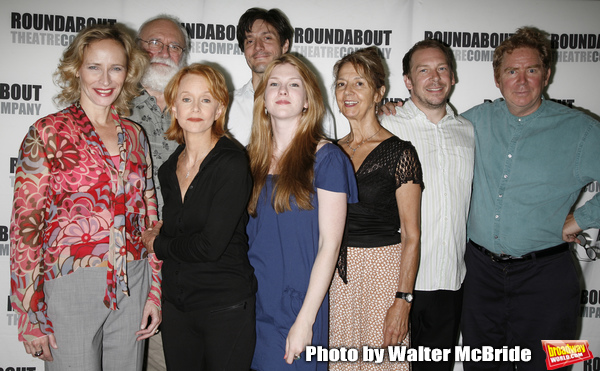 Laila Robins, Phillip Bosco,  Swoosie Kurtz, Gareth Saxe, Lily Rabe, Jenny Sterlin, Bill Camp & John Christopher Jones attending the press Meet and Greet with the cast of The Roundabout Theatre Company production of HEARTBREAK HOUSE in New York City. Augu