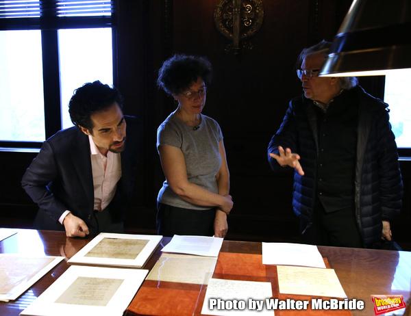 Alex Lacamoire and Luis Miranda with researcher Julie Miller