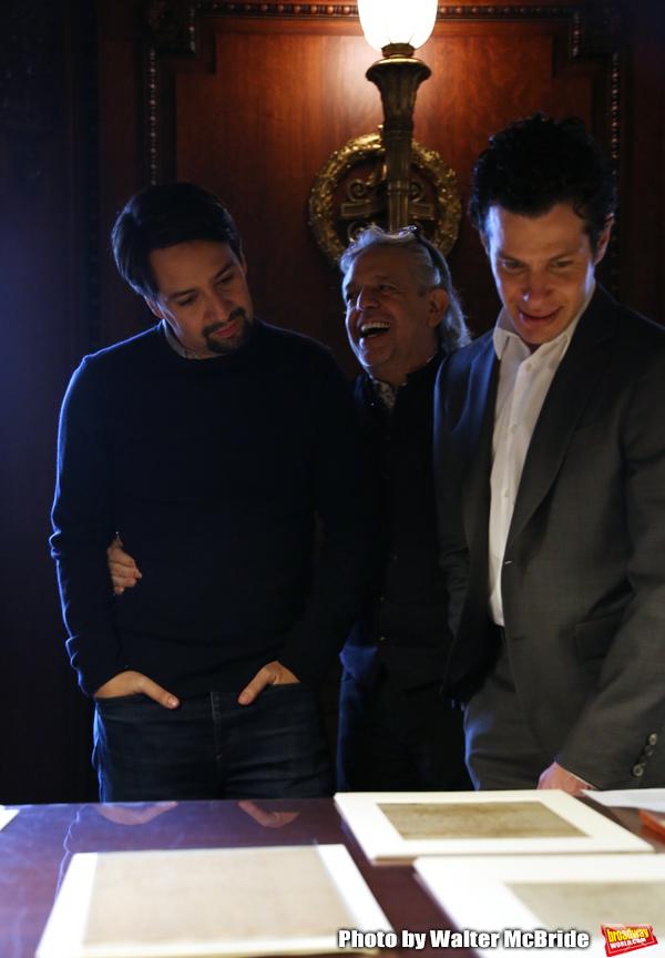 Lin-Manuel Miranda, Luis Miranda and Thomas Kail