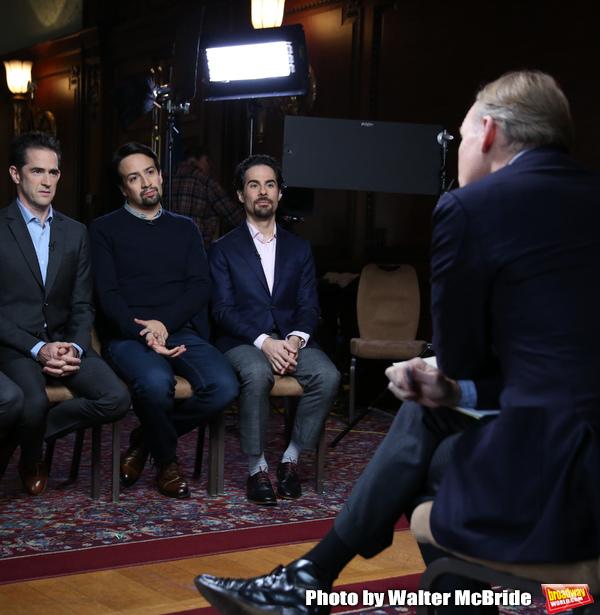 John Dickerson interviews Andy Blankenbuehler, Lin-Manuel Miranda and Alex Lacamoire Photo