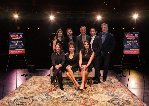 Rachel Dratch, Susan Lucci, Cecily Strong, (back row) Dayle Reyfel, Mario Cantone, Tony Danza, Eugene Pack, and Alec Baldwin