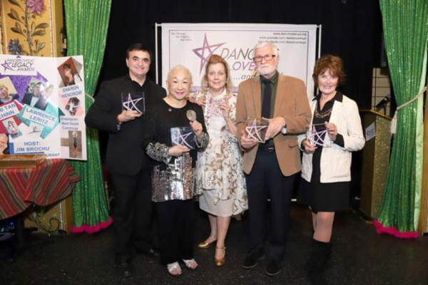 Legacy Award honorees Lawrence Leritz, Lori Tan Chinn, Virginia Seidel, Larry Ross, Sharon Wendrow