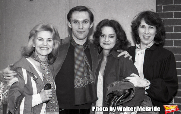 "Mary Carver, Richard Thomas, Swoosie Kurtz and Joyce Reehling after a performance in ""Fifth of July"" on July 18, 1981 at The New Apollo Theatre in New York City."