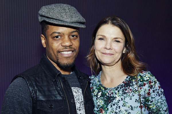Steppenwolf ensemble members Jon Michael Hill and Kathryn Erbe