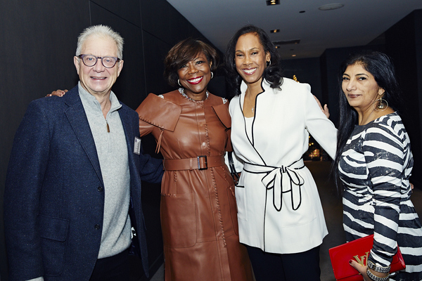 Steppenwolf co-founder and ensemble member Jeff Perry  with Steppenwolf Trustee Verett Mims, Alison Wilbon and Amrit Singh
