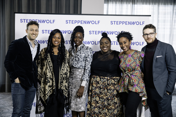 10th Anniversary Honoree Danai Gurira poses with  members of the cast and crew from the Steppenwolf production of her play Familiar; Luigi Sottile, Regina Victor, Nakia Avila, Steppenwolf ensemble member Celeste M. Cooper, Erik Hellman