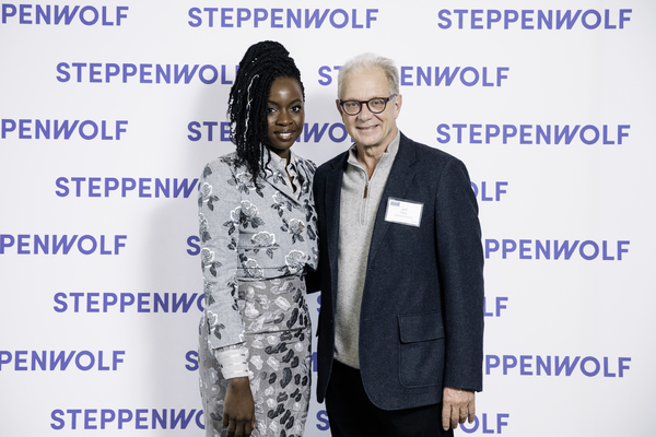 Danai Gurira and Steppenwolf  co-founder and ensemble member Jeff Perry  Photo