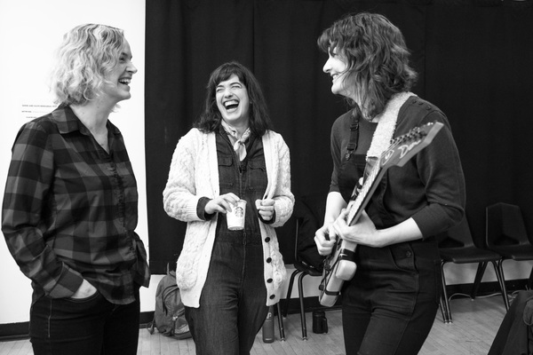 Margot Bordelon (Director), Megan Hill (Dave) and Amy Staats (Playwright, Eddie)