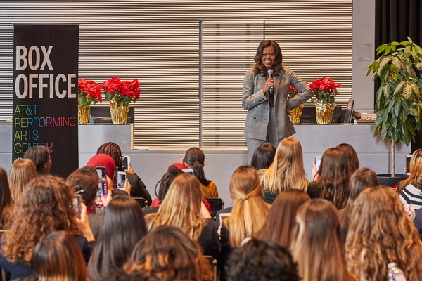 Photo Flash: Michelle Obama Stops By the Dallas Young Women's Leadership Conference