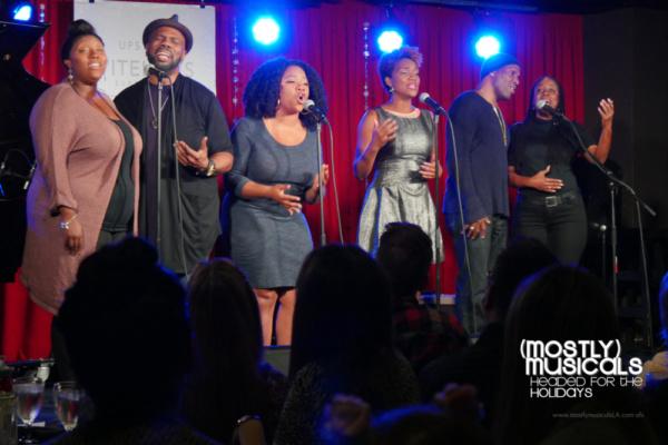 Cast members of THE COLOR PURPLE (Dominique Kent, Otis Easter, Elizabeth Adabale, April Nixon, Aaron Braxton, Jacquelin Lorraine)