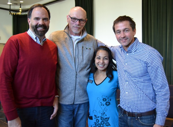 Producer Michael Mills,Executive Producer Edgar Dobie, Deputy Artistic Director Seema Sueko, and Producer Robert Ahrens