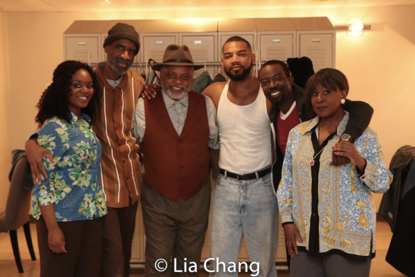 Brittany Bellizeare, Brian D. Coats, Harvy Blanks, Blake Morris, Charlie Hudson III and Elain Graham in costumes by Karen Perry