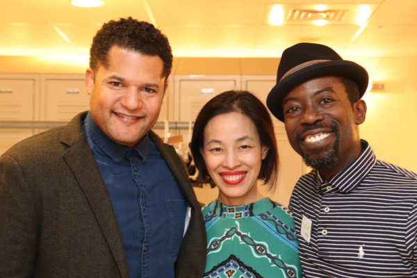 Brandon J. Dirden, Lia Chang and Charlie Hudson III Photo
