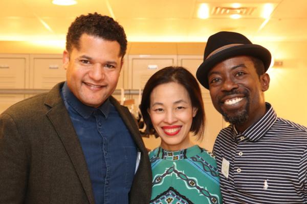 Brandon J. Dirden, Lia Chang and Charlie Hudson III