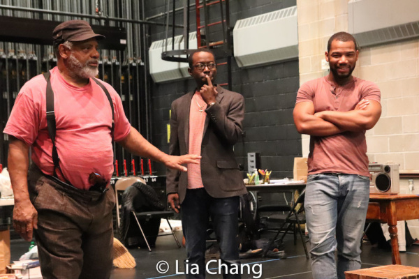 Harvy Blanks, Charlie Hudson III and Blake Morris in rehearsal Photo