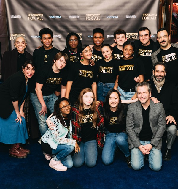 Brooke Adams, Rachel Chavkin, David Cromer, Tony Shalhoub, and Osh Ghanimah with the BROADWAY FOR ALL Students