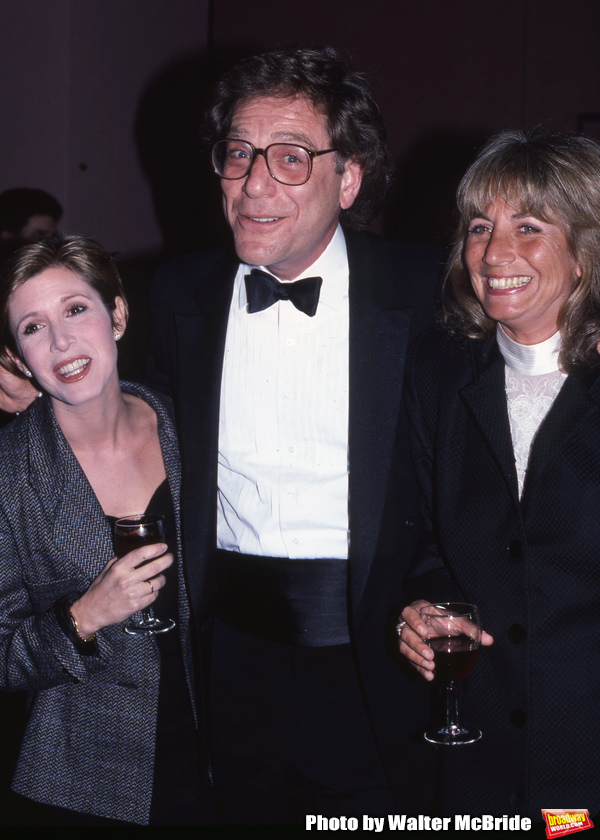 Carrie Fisher, George Segal and Penny Marshall photographed on November 1, 1987 in New York City.