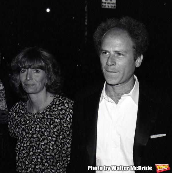 Penny Marshall and Art Garfunkel Celebrating a  Simon & Garfunkel Concert in Central Park at Savoy Hotel on September 19, 1981 in New York City.