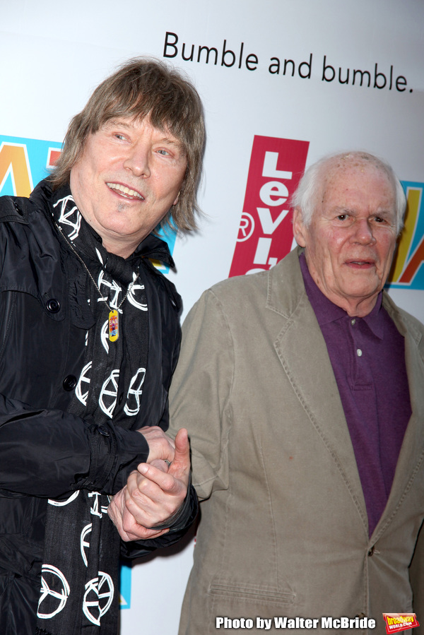 James Rado & Galt MacDermot arriving for the Opening Night Performance of HAIR: THE AMERICAN TRIBAL LOVE-ROCK MUSICAL at the Al Hirschfeld Theatre in New York City. March 31, 2009