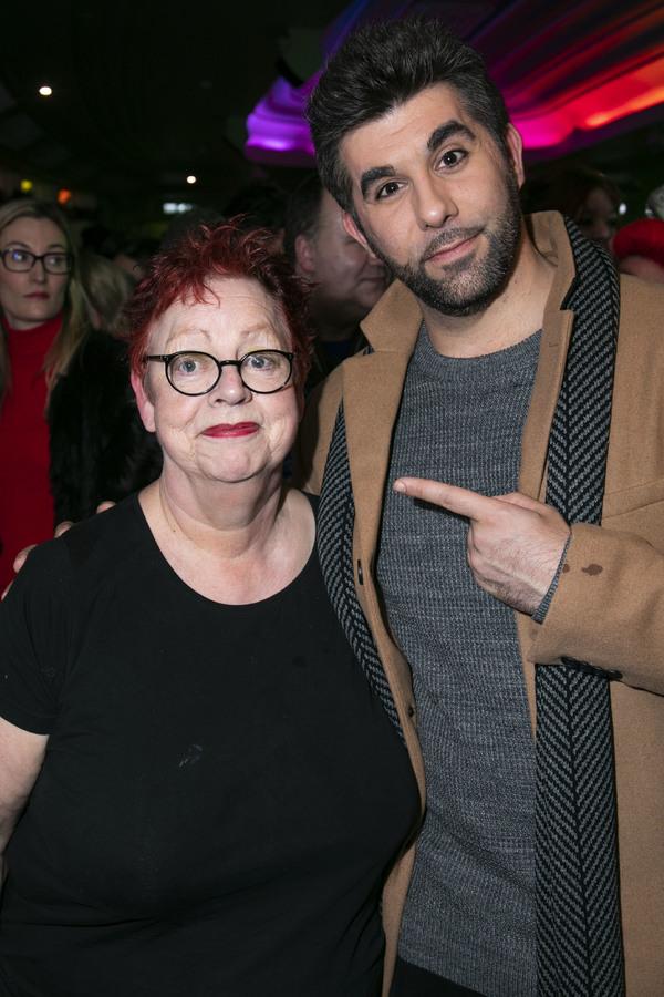 Jo Brand (The Critic) and Simon Lipkin (Mr Poppy)