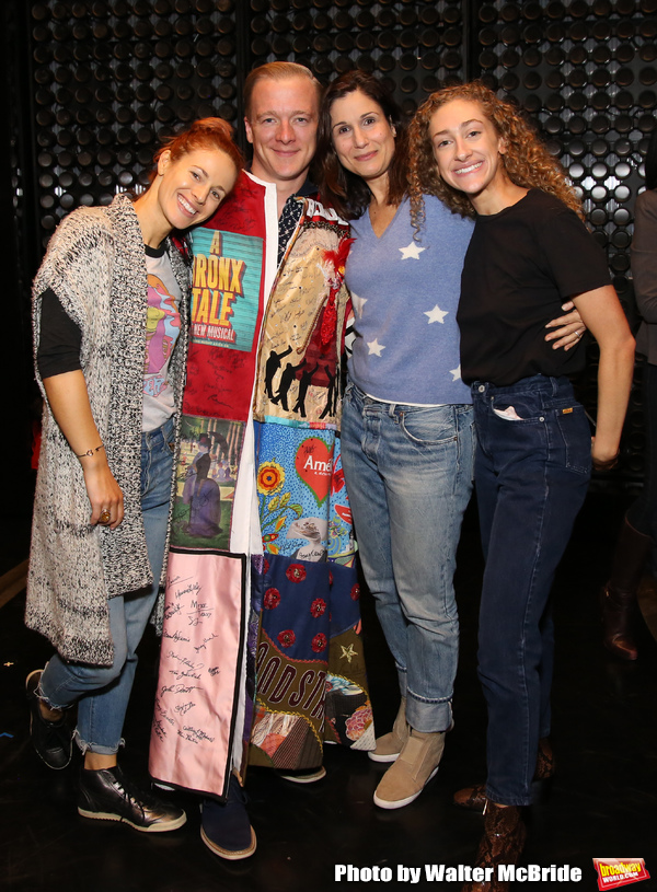 Teal Wicks, Ryan Worsing, Stephanie J. Block, Micaela Diamond  during the Actors' Equity Opening Night Legacy Robe  honoring Ryan Worsing for 'The Cher Show' at The Neil Simon Theatre on December 3, 2018 in New York City.