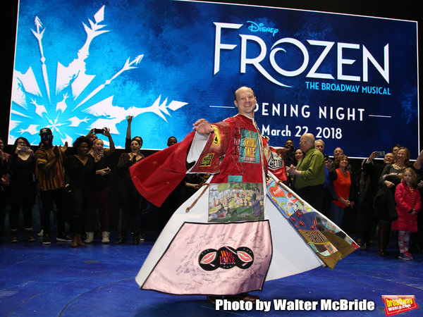 Jeremy Davis  during the Actors' Equity Opening Night Legacy Robe Ceremony honoring Jeremy Davis for 'Frozen' at the St. James Theatre on March 22, 2018 in New York City.