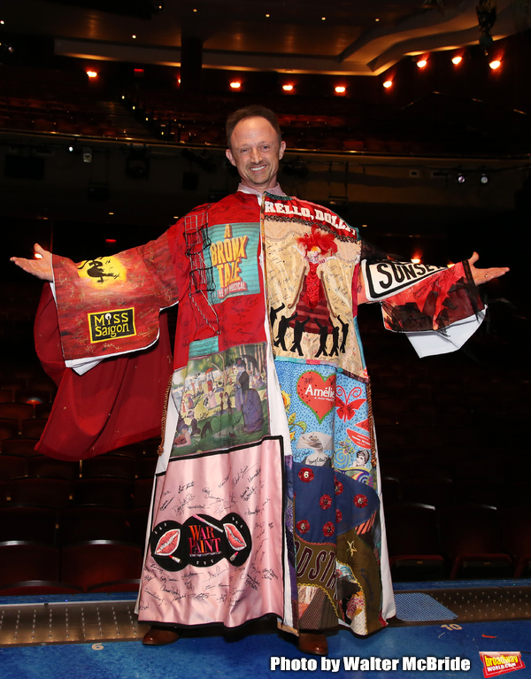 """Matt Allen during the Actors' Equity Legacy Robe Ceremony  honoring Matt Allen for """"Escape To Margaritaville"""" at The Marquis Theatre on March 15, 2018 in New York City."""