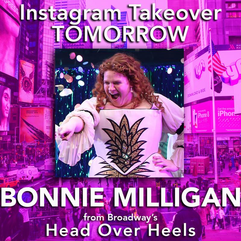 HEAD OVER HEELS' Bonnie Milligan Will Take Over Instagram Tomorrow!
