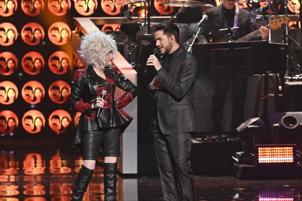 Cyndi Lauper and Adam Lambert