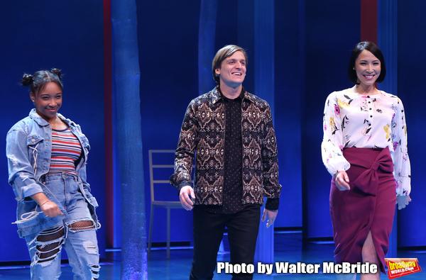 Treshelle Edmond, John McGinty and Julee Cerda during the Broadway opening night perf Photo