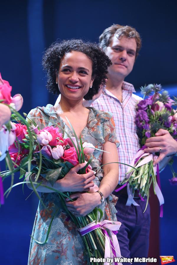 Lauren Ridloff and Joshua Jackson during the Broadway opening night performance Curta Photo
