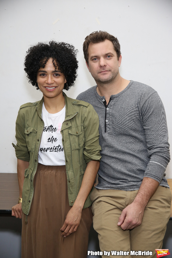 "Lauren Ridloff and Joshua Jackson attends the cast photo call for the Broadway Revival of  ""Children of a Lesser God"" on February 22, 2018 at the Roundabout Rehearsal Studios in New York City."