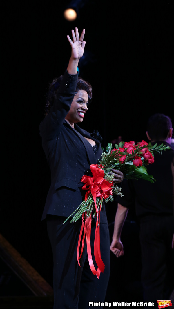 Kandi Burruss makes her Broadway debut as Matron Mama Morton starring in 'Chicago' at the Ambassador Theatre on January 16, 2018 in New York City.