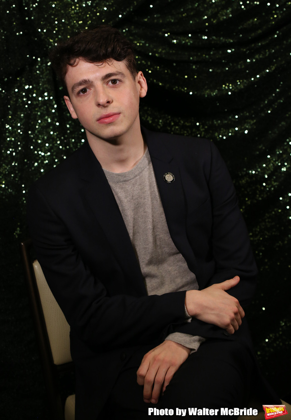 Anthony Boyle attends the 2018 Tony Awards Meet The Nominees Press Junket on May 2, 2 Photo