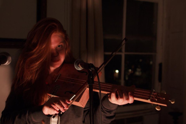 Jody Christopherson in St Kilda, at Torn Page in the so-fi festival. Photo by Kacey A Photo