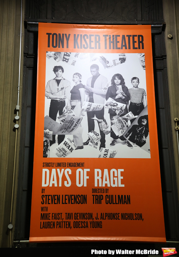 """Theatre Marquee for the Second Stage Production of """"Days Of Rage"""" at Tony Kiser Theat Photo"""
