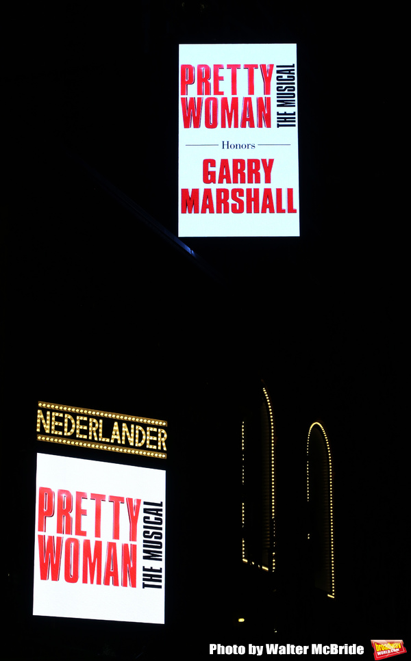 Theatre Marquee for the Garry Marshall Tribute Performance of 'Pretty Woman:The Music Photo