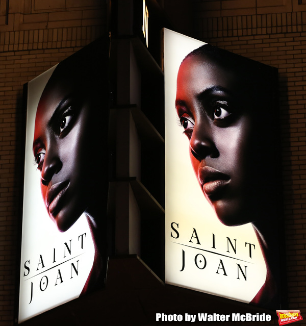 Theatre Marquee for the Broadway Opening Night of 'Saint Joan' starring Condola Rashad at the Samuel J. Friedman Theatre on April 25, 2018 in New York City.