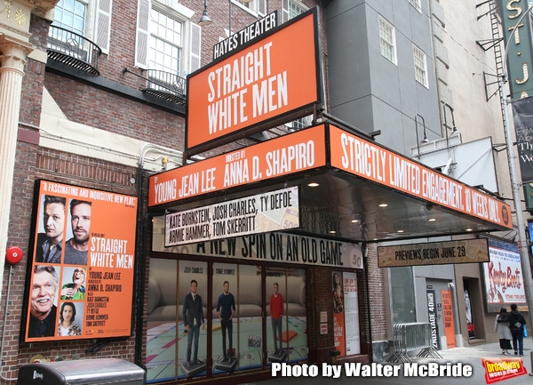 Theatre Marquee unveiling for 'Straight White Men' starring  Armie Hammer and Tom Ske Photo