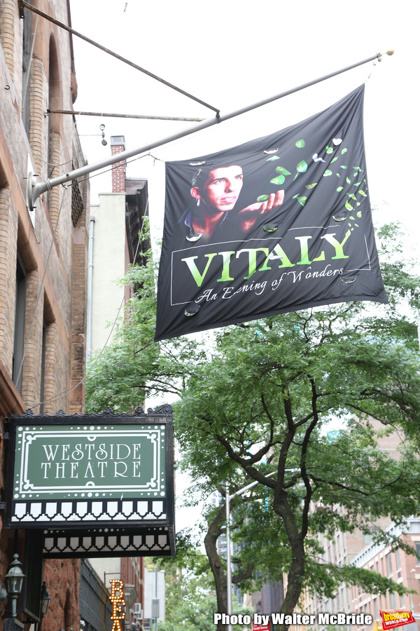 Theatre Marquee for the Off-Broadway Opening Night arrivals for 'Vitaly: An Evening o Photo